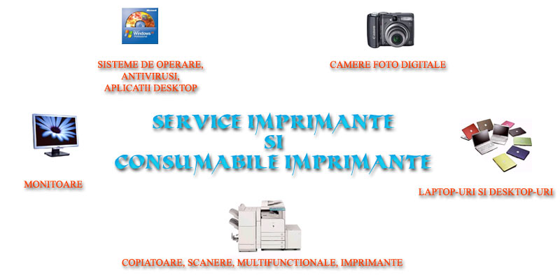 Service imprimante, calculatoare, consumabile imprimante